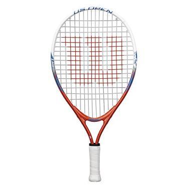 Wilson Raquete de tênis juvenil US Open Recreational - Laranja/Azul, 48 cm
