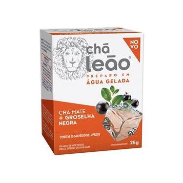 Chá Leão Mate e Groselha Negra Sachê 25g