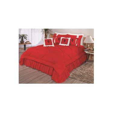 1f42e2dad7 Cobre Leito Casal Queen Esplendore 7 peças - Vermelho