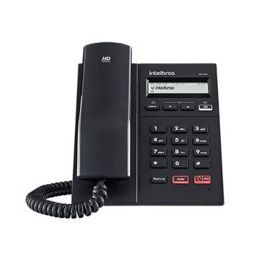 Telefone IP Intelbras TIP 125i VOIP - POE - Protocolo SIP 2.0, Display Gráfico, Viva-voz - Preto