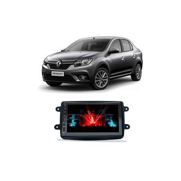 Central Multimídia Renault Logan 2014 a 2021 Espelhamento iOS Android 7 Polegadas BT USB