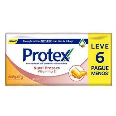 Sabonete em Barra Protex Nutri Protect Vitamina E 85g Promo 6un id, Protex, pacote de 6