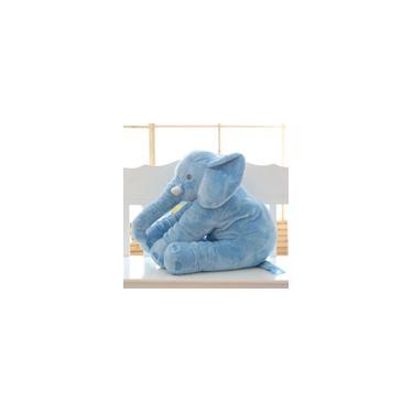 Imagem de Elefante de Pelúcia 60cm Almofada Rosa