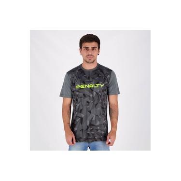 Camisa Penalty Geometric X Estampada Chumbo