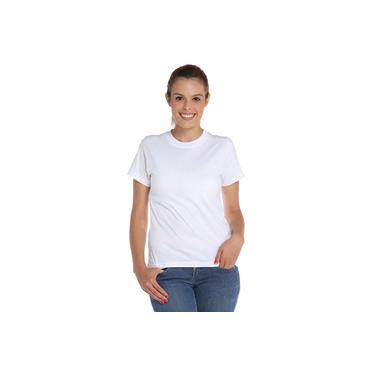 Camiseta Feminina Baby Look Branca 100% Algodão