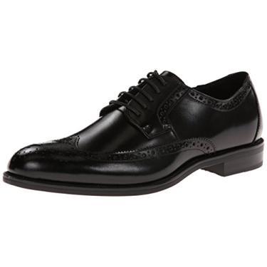 Sapato Oxford masculino Stacy Adams Garrison Wingtip, Preto, 12 Wide