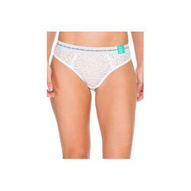 Calcinha Fio Dental Calvin Klein Underwear Com Renda E Forro
