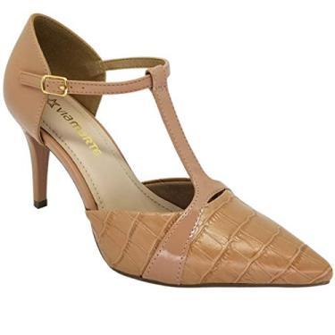 Sapato Scarpin Feminino Via Marte Terracota