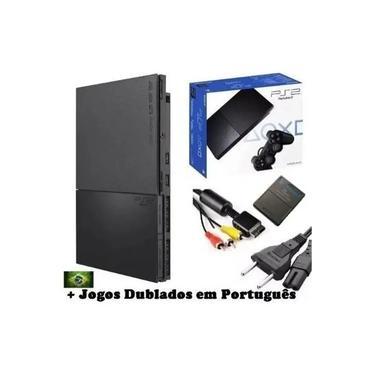 Console PlayStation 2 com Controle + Jogos + Memorycard