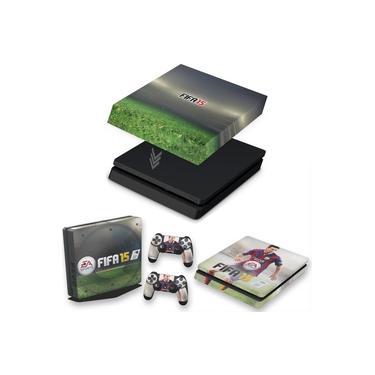 Capa Anti Poeira e Skin para PS4 Slim - Fifa 15