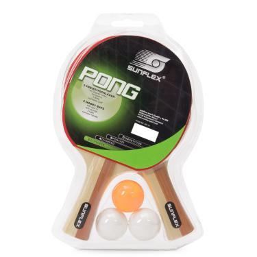 19b783c04 Kit Tênis de Mesa Sunflex Pong com 02 Raquetes e 03 Bolinhas