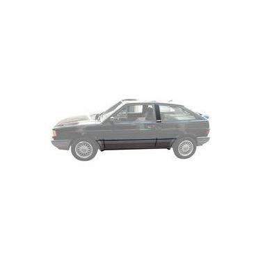 Kit Friso Lateral Volkswagen Gol Gti Quadrado 1993 1994 Cinza Prata