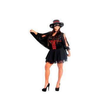 Fantasia Zorro Feminino Mascarada Heat Girl Com Máscara Sulamericana 9b2d9af3c8e