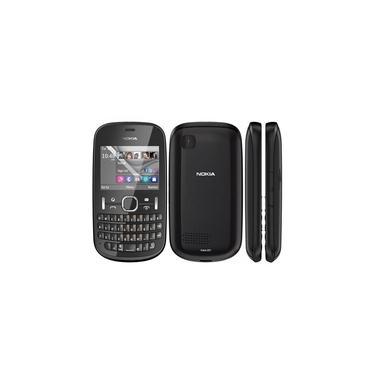 Celular Nokia Asha 201 2GB 2.4pol 2MP - Preto
