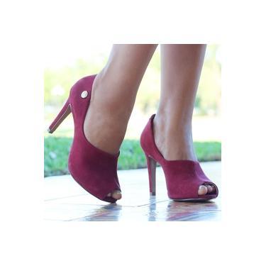 Sapato Open Boot Conexao Nacional Marsala Feminino 75-110