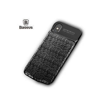 Capa Carregadora Bateria Externa Iphone X 10 3500mah Baseus - Preta - Preta