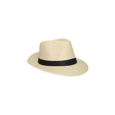 Chapéu Moda Panamá Palha Casual Praia - Palha