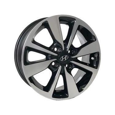 Jogo de Rodas Hyundai HB20s Premium Aro 14 x 6,0 4x100 ET38 S13 HB20 Preto Diamantado