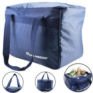 Bolsa Térmica Grande 26 Litros Cerveja Lanche Bebida Azul - Bag freeze