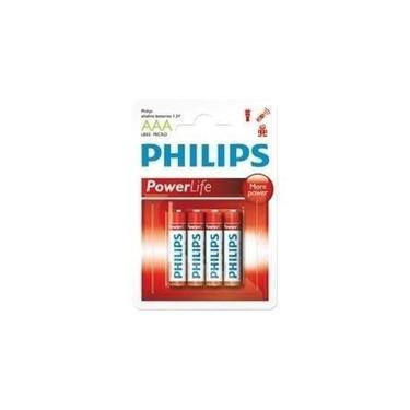 Pilhas Aaa Power Life Alcalinas (kit Com 4 Pilhas) Lr03p4b