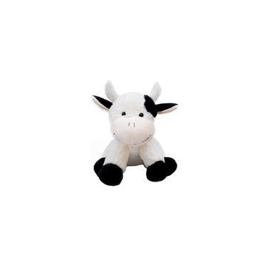 Imagem de Vaca de Pelúcia Branca Com Manchas Pretas 32cm Fazenda Fofy