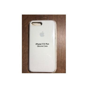 Capa Capinha Case em silicone para iPhone 7/8 Plus Branco