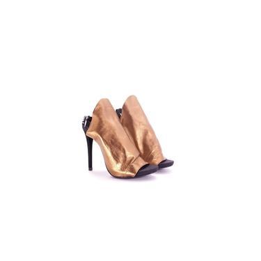 Sandália Schutz de Malha Bronze
