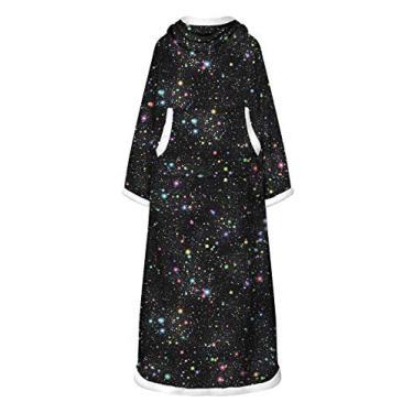 Doufine Vestidos femininos quentes com estampa tie dye de manga comprida e estampa digital, As6, One Size