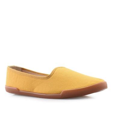 Alpargata feminina Conforto Bico Redondo Vivet  5704100  VIVET Amarelo  feminino