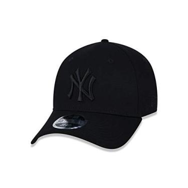 Imagem de BONE 39THIRTY HIGH CROWN MLB NEW YORK YANKEES ABA CURVA STRETCH FIT PRETO New Era
