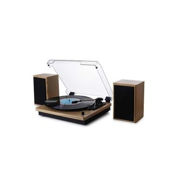 Vitrola Toca Discos De Vinil Bluetooth Aria Concert Com 02 Caixas De Som Externas Arena Phoenix Ópera Tenor Maxsound Uitech