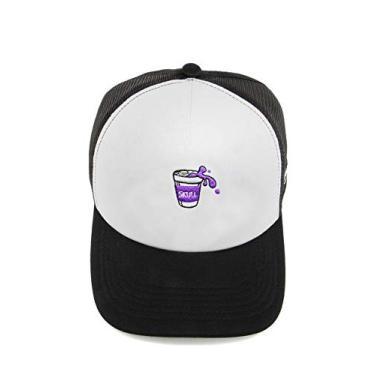 Boné Trucker Purple Juice Branco Bordado (Único, Branco)