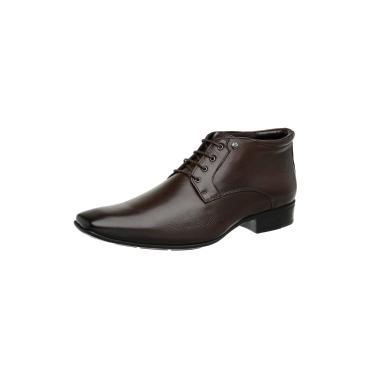 Bota Social Jota Pe Couro Marrom Air Boot 72457  masculino