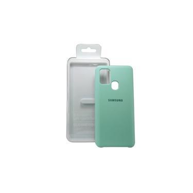 Capa Capinha Celular Samsung Galaxy A21s Silicone Verde Claro Luxo Case Aveludada