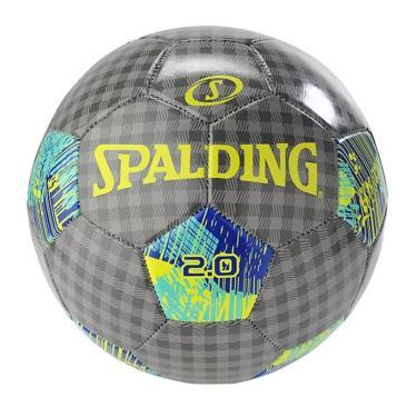 Bola de Futebol 2.0 Tam 5 Soccer Ball Spalding - Cinza/Amarelo