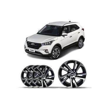 Rodas Aro 16 Hyundai Creta 2016 a 2020 RW6040 5 Furos 5x114,3 Calota Central Modelo Original 4 Peças