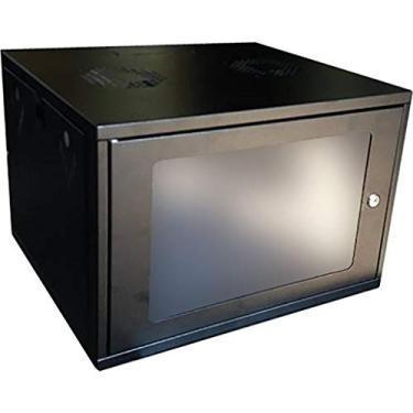 mini rack 19'' 5ux450mm - max eletron (preto)