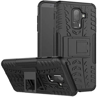 Capa Capinha Anti Impacto Para Samsung Galaxy J8 2018 Tela 6Case Armadura Hybrid Reforçada Com Desenho De Pneu - Danet (Preto)