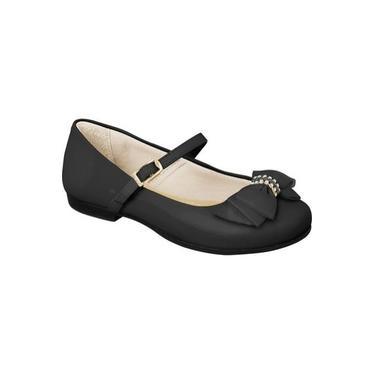 Sapato infantil preto feminino Pampili