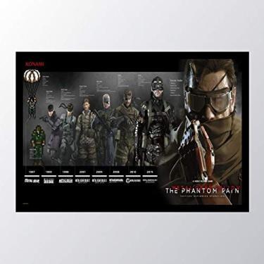 Quadro com moldura Metal Gear Solid V The_009