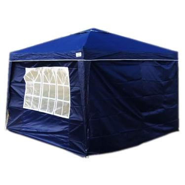 Kit 1 Tenda Gazebo Sanfonada X-flex + 1 Kit 2 paredes para Tenda Gazebo Mor