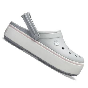 Crocs Crocband Plataforma Feminino Cinza