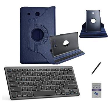 """Kit Capa/Teclado/Can/Pel Galaxy Tab E T560/T561 9.6"""" Azul"""