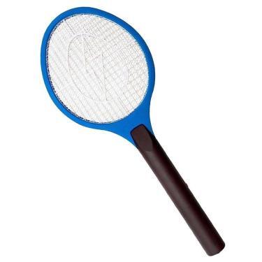 Raquete Elétrica Mata Moscas e Mosquitos Recarregável