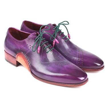 Paul Parkman Sapato Oxford Opanka Construction roxo pintado à mão (ID#OPK66KD) Tamanho, Roxa, 8-8.5