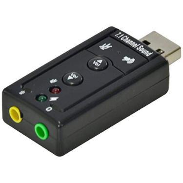 ADAPTADOR PLACA DE SOM USB 7.1 CANAIS VIRTUAL AUSB71 - *VNK*, VINIK, 25541