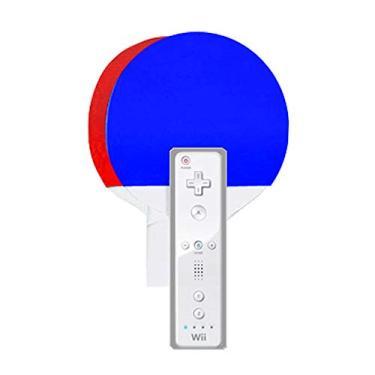 Kit com 2 raquetes de ping pong - Branco/Azul/Vermelho - Nintendo Wii