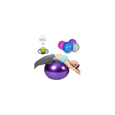 Imagem de Conjunto de bola de ioga de 75 cm anti-estouro de pvc espessado Estabilidade Equilíbrio Bola Pilates Exercício Bola de Ioga + Bomba + Airlock