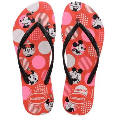 Imagem de Chinelo Feminino Havaianas Slim Disney Minnie Vermelho Ii