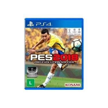 Jogo Mídia Física Lacrado Pro Evolution Soccer Pes 2018 Pra Ps4